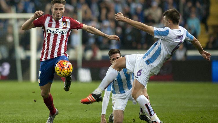 Le joueur de l'Atletico Madrid Saul Niguez (JORGE GUERRERO / AFP)