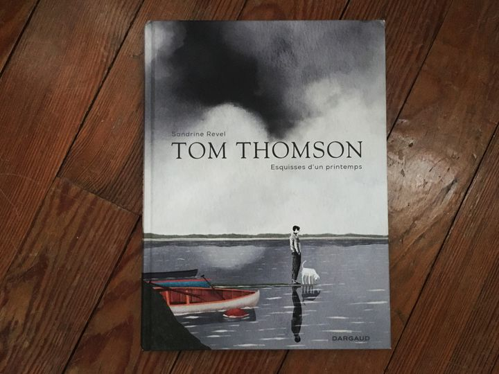 """Couverture de """"Tom Thomson, esqiusses d'un printemps"""", de Sandrine Revel (DARGAUD)"""
