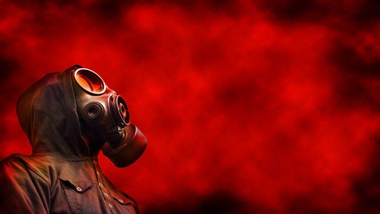 Une personne porte un masque à gaz. (SEAN GLADWELL / MOMENT RF)