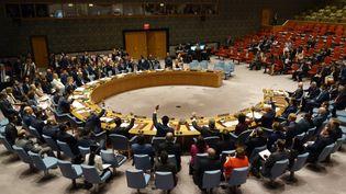Le Conseil de sécurité de l'ONU, le 21 septembre 2017. (DON EMMERT / AFP)
