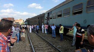 Deux trains sont entrés en collision en Egypte, à l'entrée de la ville d'Alexandrie,le11 août 2017. (REUTERS)