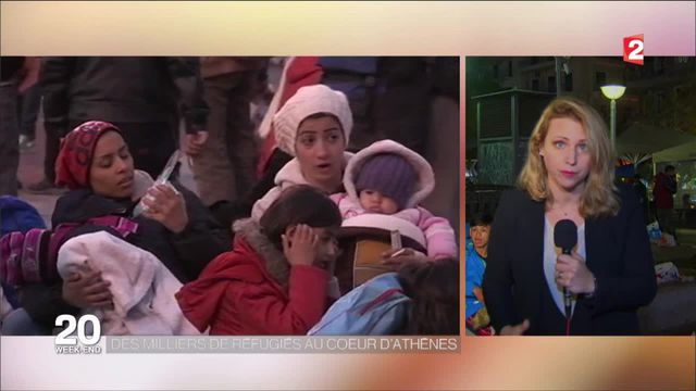 Migrants : des milliers de réfugiés au coeur d'Athènes