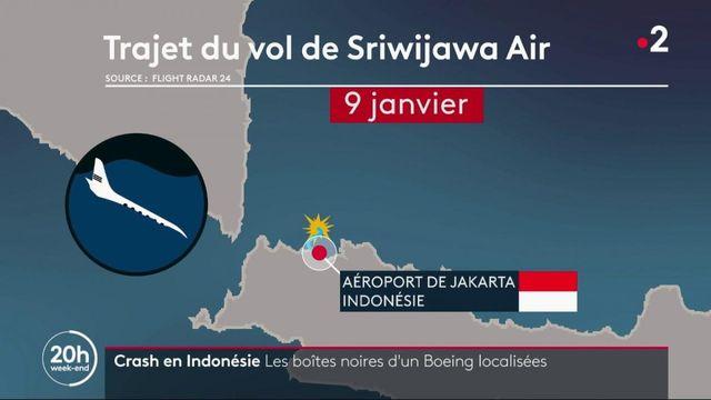Crash d'un avion en Indonésie : le signal des boîtes noires du Boeing 737-500 localisé