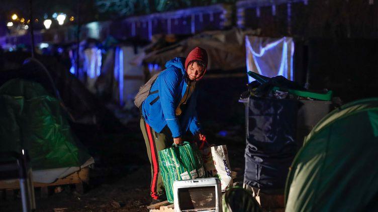 Evacuation d'un campement près de la porte d'Aubervilliers à Paris, le 28 janvier 2020 (REUTERS - GONZALO FUENTES / X02443)