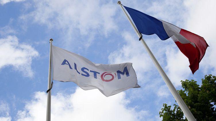 Sur le site Alstom de Levallois-Perret (Hauts-de-Seine), le 27 avril 2014. (PATRICK KOVARIK / AFP)