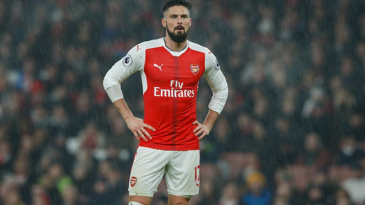 L'attaquant d'Arsenal, Olivier Giroud (  BEN QUEENBOROUGH / BACKPAGE IMAGES LTD)