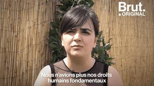 """VIDEO. """"Nous étions gazés, battus""""… Le témoignage poignant d'une réfugiée syrienne (BRUT)"""
