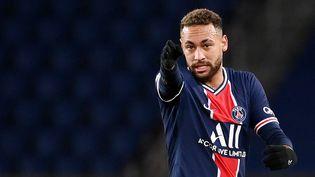 Neymar, footballeur brésilien du PSG pendant le match qui l'opposait à Montpellier au Parc des Princes à Paris, le 22 janvier 2021. (FRANCK FIFE / AFP)