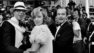 """""""Cannes les années stars"""" au château de la Buzine jusqu'au 5 juin 2016 - Ici Bob Rafelson, Jessica Lange et Jack Nicholson en 1981  (Serge Assier)"""