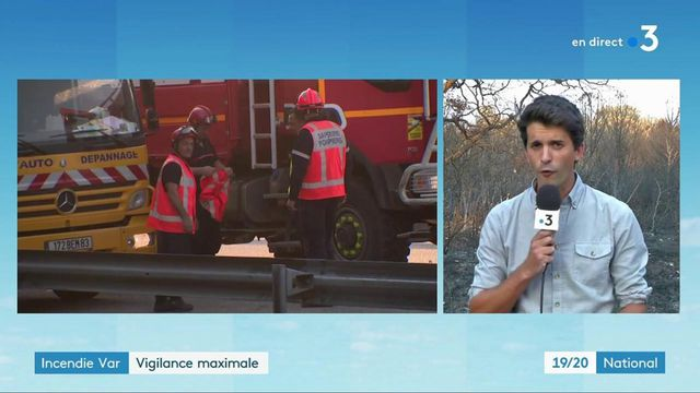 Incendie dans le Var : nouveau départ de feu maitrisé, un homme interpellé
