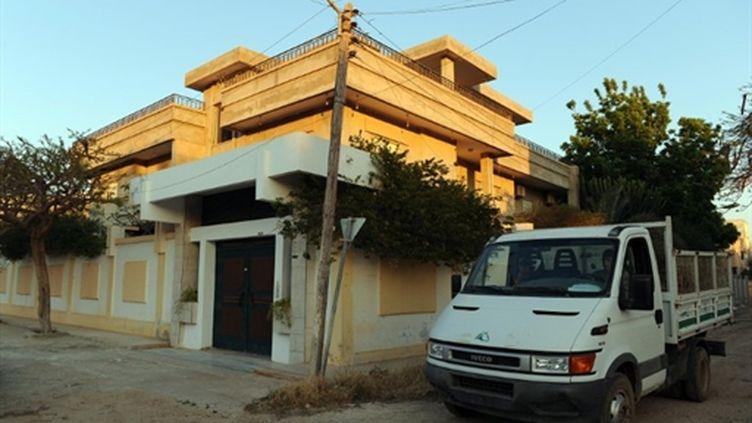 Maison qui serait louée à Benghazi par la société de sécurité Secopex, fondée par Pierre Marzali, le Français tué (AFP - Saeed KHAN)
