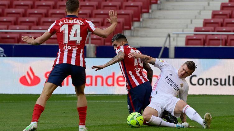 L'Atlético de Madrid affronte le Real Madrid  (JAVIER SORIANO / AFP)
