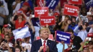 Donald Trump devant ses supporters à Orlando, en Floride, le 18 juin 2019 (MANDEL NGAN / AFP)