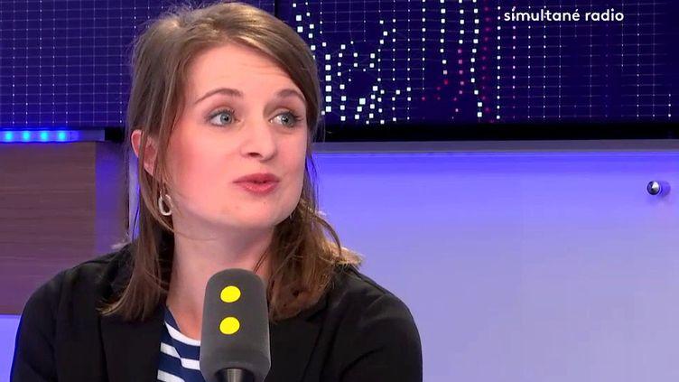 Lila Lebas, présidente de l'Union nationale des étudiants de France, était l'invitéede franceinfo. (FRANCEINFO)