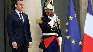 Emmanuel Macron, à l'Élysée, le 28 juin 2017. (BERTRAND GUAY / AFP)