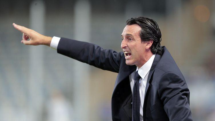 L'entraîneur parisien Unai Emery (PASCAL POCHARD CASABIANCA / AFP)