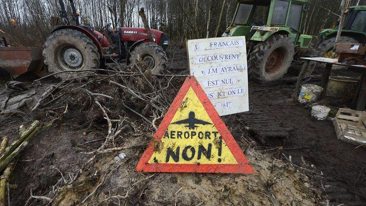 (La contestation contre le futur aéroport de Notre-Dame-des-Landes est un symbole des projets contestés en France © MaxPPP)