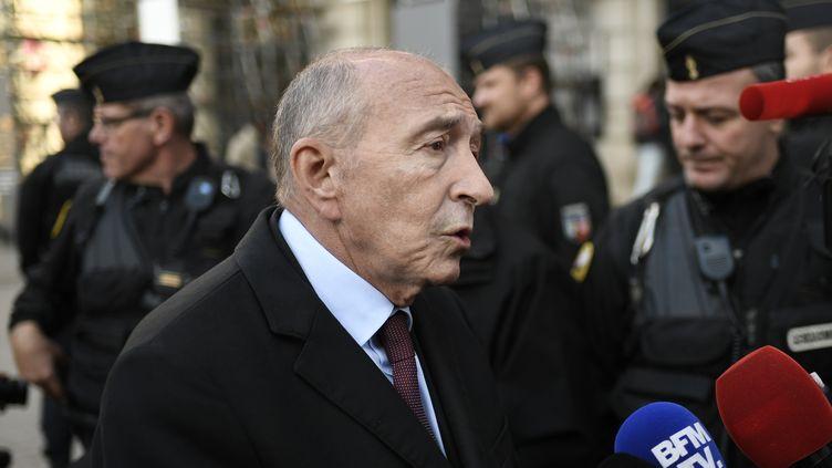 Gérard Collomb, le ministre de l'Intérieur, à Paris, le 31 octobre 2017. (STEPHANE DE SAKUTIN / AFP)