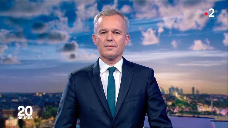 François de Rugy sur le plateau de France 2, le 23 juillet 2019. (FRANCE 2)