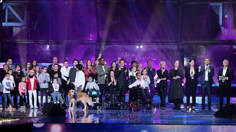 La soirée du Téléthon, organisée par France Télévisions en 2019. (GILLES GUSTINE / FRANCE TELEVISIONS / AFP)