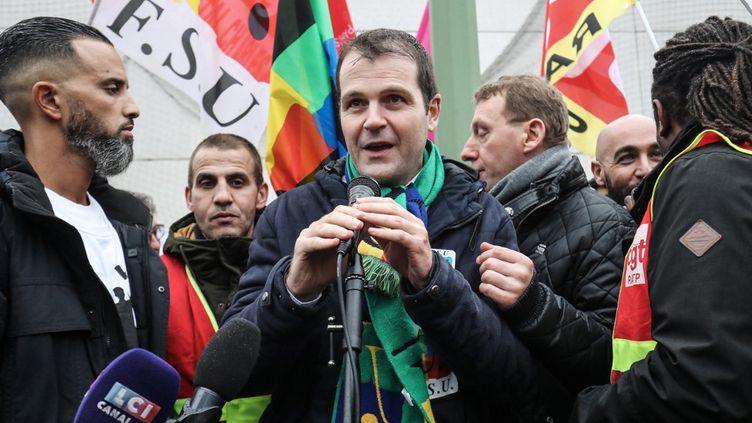Benoît Teste,secrétaire général de la Fédération syndicale unitaire (FSU). (LUDOVIC MARIN / AFP)