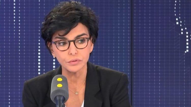 Rachida Dati, maire du 7e arrondissement de Paris et candidate Les Républicains à la mairie de Paris, sur franceinfo jeudi 23 janvier 2020. (FRANCEINFO / RADIOFRANCE)