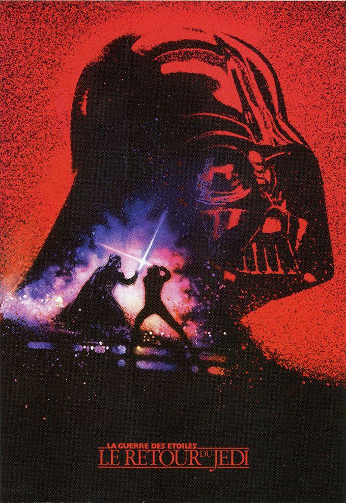 Version personnelle de l'affiche de l'épisode VI, Le Retour du Jedi par l'artiste Drew Struzan. Poster commercialisé en France  (Editions du Week-end)