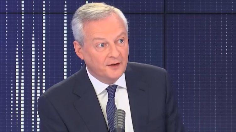 Bruno Le Maire, ministre de l'Économie, était l'invité de franceinfo lundi 29 mars 2021. (FRANCEINFO / RADIOFRANCE)