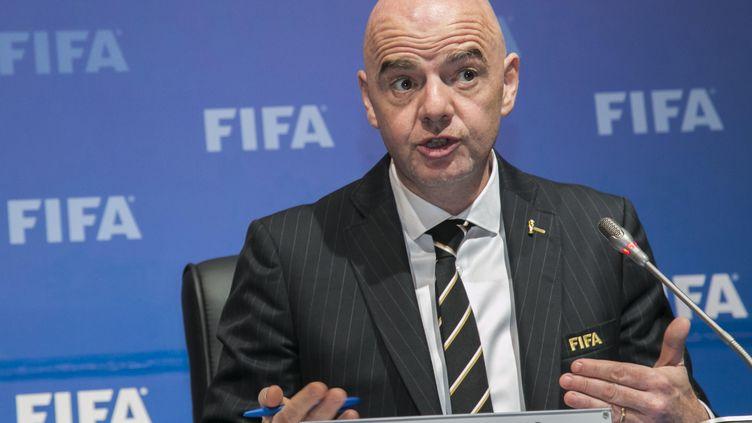 Gianni Infantino, le président de la FIFA (CYRIL NDEGEYA / AFP)