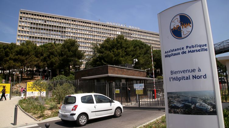 L'entrée de l'hôpital Nord de Marseille, le 11 juin 2015. (VALLAURI NICOLAS / MAXPPP)