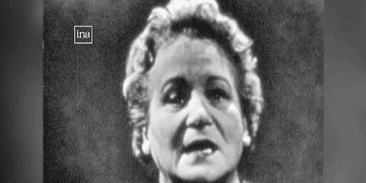 Béatrice Bretty, ici dans les années 60, fut l'un des premiers visages que les français découvrirent à la télévision  (France 3/Culturebox)