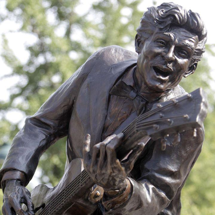 La statue de Chuck Berry à St-Louis (Missouri)  (Jeff Roberson/AP/SIPA)