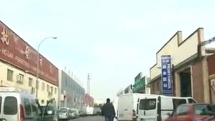 La zone commerciale chinoise de Fuenlabrada, localité située à quelque 20 kilomètres au sud de Madrid. (FTV)