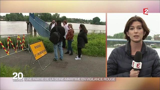 Inondations : une partie de la Seine-Maritime en vigilance rouge