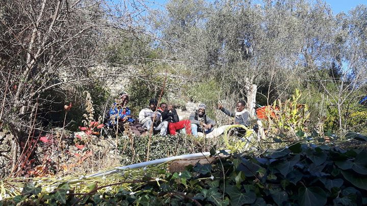 Dix-huit migrants sont en ce moment accueillis chez Cédric Herrou (RADIO FRANCE / GAËLE JOLY)