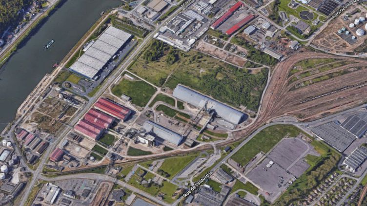 La zone industrielle de Grand-Quevilly, près de Rouen (Seine-Maritime), oùl'usine Borealis a été mise à l'arrêt mardi 1er octobre 2019. (GOOGLE MAPS)