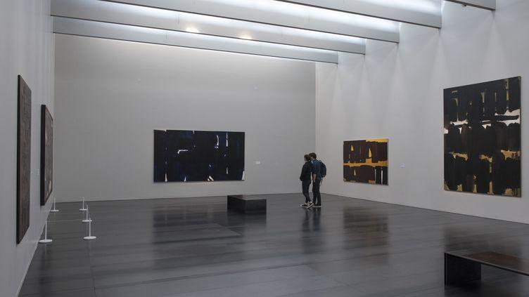 Une salle du musée Soulages de Rodez (15 mai 2019) (GERAULT GREGORY / HEMIS.FR / via AFP)