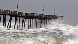 L'ouragan Doriantouche les côtes américaines, à Salvo (Caroline du Nord, Etats-Unis), le 6 septembre 2019. (JOSE LUIS MAGANA / AFP)