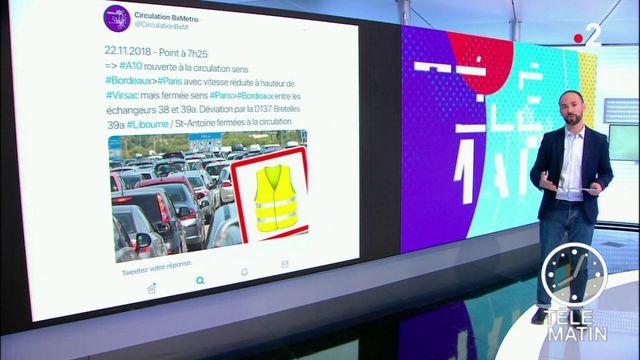"""""""Gilets jaunes"""" : le point sur la mobilisation et les conditions de circulation"""