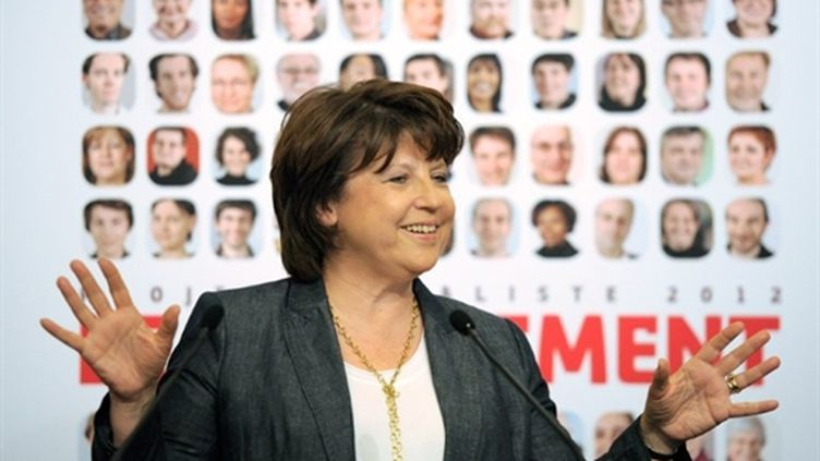 Martine Aubry, première secrétaire du PS, mardi 5 avril 2011. (AFP - Franck Fife)