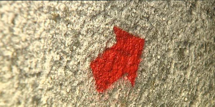 Le flèche rouge, la deuxième signature de Jef Aérosol  (France 3 Culturebox)