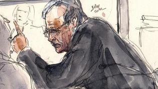 Didier Krombach lors de son procès pour la mort de sa belle-fille Kalinka Bamberski, à Créteil (Val-de-Marne), le27 novembre 2012. (BENOIT PEYRUCQ / AFP)