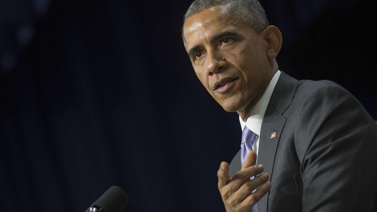 Barack Obama, le 11 février 2015, à Washington. (JIM WATSON / AFP)