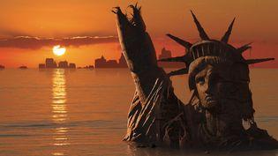 New York et la Statue de la Liberté bientôt immergées sous l'effet du réchauffement climatique ? Illustration à l'ordinateur datée de 2018  (Mark Garlick / Science Photo Libra / MGA / Science Photo Library / AFP)