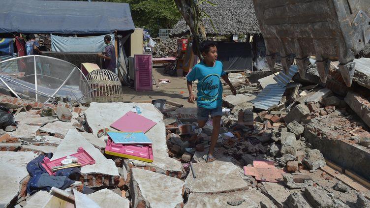 Gangga, une île indonésienne victime du séisme du 5 août 2018. (ADEK BERRY / AFP)
