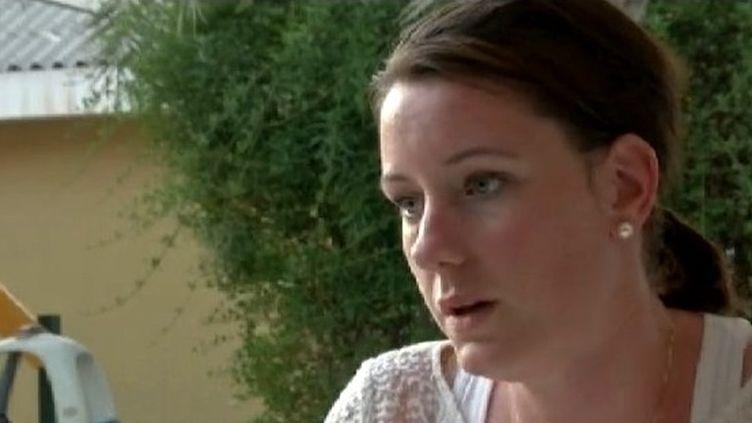 Marte Dalvev, le 19 juillet 2013, donne une interview après sa condamnation à 16 mois de prison à Dubaï, après avoir été violée.