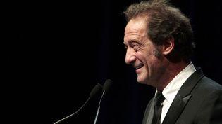 Vincent Lindon le 7 septembre 2013 présentanr son palmarès comme président du jury du 39e Festival du cinéma américain de Deauville.  (CHARLY TRIBALLEAU / AFP)