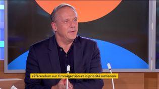 PhilippeOlivier, député européen Rassemblement National (RN) et conseiller spécial de Marine Le Pen, le 27 septembre sur ma chaîne franceinfo. (FRANCEINFO)