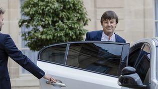 Le ministre de la Transition écologique et solidaire, Nicolas Hulot, le 18 mai 2017, à l'Elysée. (MAXPPP)