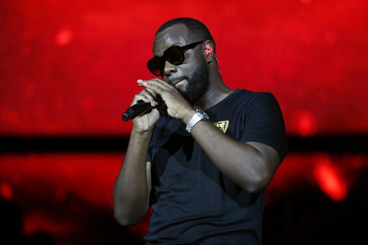 Le rappeur Gims en concert au Stade de France en 2019. (ZAKARIA ABDELKAFI / AFP)